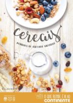 Folhetos Continente Modelo : Cereais, momentos do dia para saborear