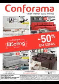 Folhetos Conforama Setúbal : Até -50% em sofás