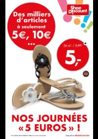 Prospectus Shoe Discount BRUSSEL Rue Neuve : Nos journées ''5 euros''