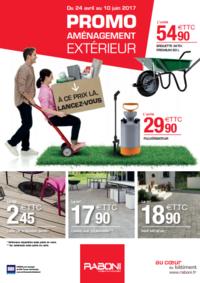 Prospectus RABONI Paris : Promo aménagement extérieur