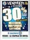 30% en bons d'achat sur les rayons DROGUERIE, PARFUMERIE