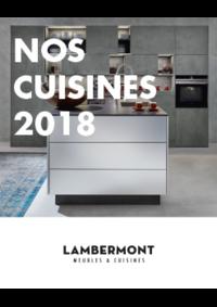 Catalogues et collections Meubles Lambermont  : Nos cuisines 2018