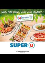 Menus Super U : La carte traiteur U printemps été
