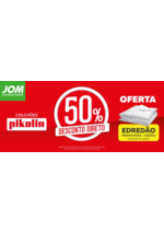 Promoções e descontos JOM : 50% desconto direto, colchões Pikolin