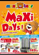 Prospectus Maxi Toys : Maxi days !