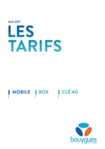 Tarifs  : Les tarifs Mobile, Box, Clé 4G