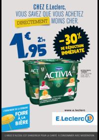 Prospectus E.Leclerc FRANCONVILLE : Chez E.Leclerc, vous savez que achetez directement moins cher