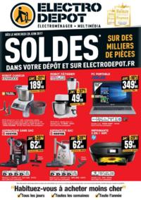 Prospectus ELECTRO DEPOT BRIE COMTE ROBERT : Soldes !