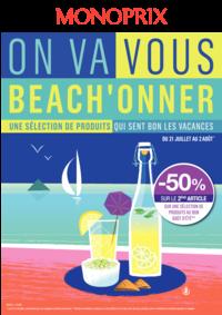 Prospectus Monoprix POISSY : On va vous beach'onner
