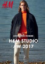Promos et remises  : Lookbook homme H&M Studio automne hiver 2017