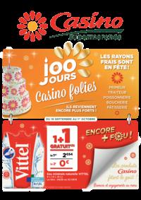 Prospectus Supermarchés Casino PARIS 352 RUE LECOURBE : Les 100 jours Casino folies