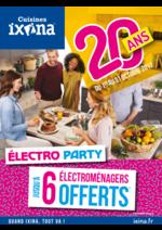 Prospectus Ixina : 20 ans - Électro Party