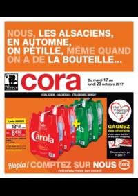 Prospectus Cora MOLSHEIM : Nous, les alsaciens, en automne, on pétille, même quand on a de la bouteille...