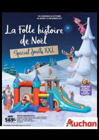 Prospectus Auchan Plaisir : La folle histoire de Noël. Spécial jouets XXL