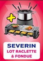 Promos et remises Pulsat : Lot raclette & fondue Severin
