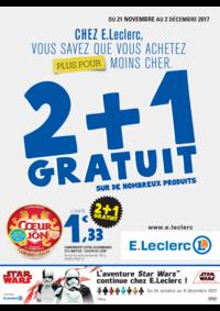 Prospectus E.Leclerc PERRUSSON : 2+1 gratuit sur de nombreux produits