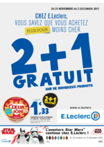 Prospectus  : 2+1 gratuit sur de nombreux produits