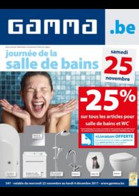 Prospectus GAMMA BRUGGE : -25% sur tous les articles pour salle de bains et WC