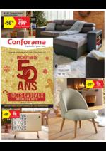 Prospectus Conforama : Incroyable 50 ans Idées cadeaux meubles & déco