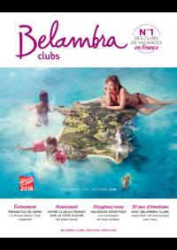 Catalogues et collections Belambra Clubs Alvignac les Eaux : Brochure printemps-été-automne 2018