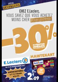 Prospectus E.Leclerc Paris 19 : -30% de réduction immédiate sur de nombreux produits
