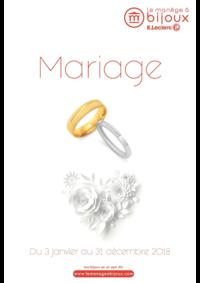 Catalogues et collections Le Manège à Bijoux E.Leclerc CHAUMONT : Catalogue Mariage