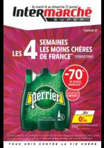 Prospectus  : Les 4 semaines les moins chères de France. Semaine 1