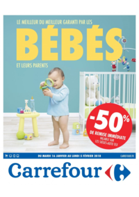 Prospectus Carrefour : Le meilleur du meilleur garanti par les bébés et leurs parents