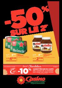 Prospectus Supermarchés Casino PARIS 352 RUE LECOURBE : -50% sur le 2ème