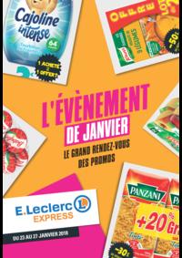 Prospectus E.Leclerc Paris 19 : L'événement de janvier