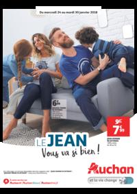 Prospectus Auchan Val d'Europe Marne-la-Vallée : Le jean vous va si bien !