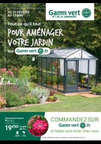 Prospectus Gamm vert PONTCHATEAU : Pour aménager votre jardin