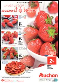 Prospectus Auchan Plaisir : La vie a un goût de fraise et de bonheur !