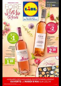 Prospectus Lidl EAUBONNE : La foire aux vins rosés