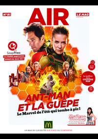 Journaux et magazines McDonald's - BOULOGNE : Air le Mag du mois de juillet 2018