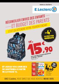 Prospectus E.Leclerc FRANCONVILLE : Réconcilier envies des enfants et budget des parents