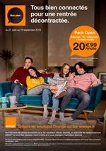 Prospectus Orange : Tous bien connectés pour une rentrée décontractée
