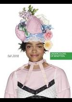 Promos et remises  : Catalogue Undercolors of Benetton Automne 2018