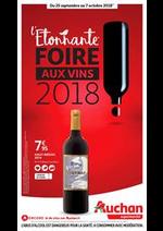 Prospectus Auchan Supermarché : L'étonnante foire aux vins 2018 !