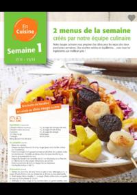 Menus Colruyt AUDERGHEM :  2 menus pour la semaine