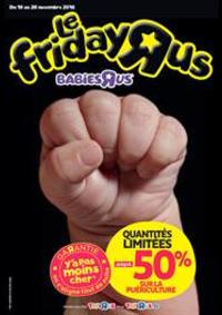 Prospectus Babies R Us CORBEIL-ESSONNES Centre Commercial Villabé : Offres Black Friday Toys R Us!