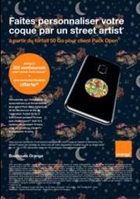 Prospectus Boutique Orange ST POL SUR TERNOISE : Faites personnaliser votre coque par un street artist