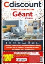 Promos et remises  : Cdiscount s'invite dans votre Géant Casino