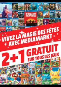 Prospectus Media Markt Bruxelles Rue Neuve : 2+1 gratuits sur tous les jeux