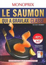 Prospectus Monoprix : Le saumon qui a gravlax classe
