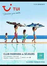 Promos et remises  : Brochure TUI Club Marmara & Séjours Hiver 2018/2019
