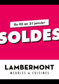 Prospectus Meubles Lambermont  : Soldes
