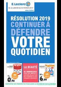 Prospectus E.Leclerc BOBIGNY : Résolution 2019 continuer à défendre votre quotidien