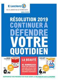 Prospectus E.Leclerc L'AIGLE : Résolution 2019 continuer à défendre votre quotidien