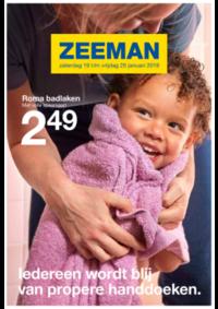 Prospectus Zeeman Halle : Ledereen wordt blij van handdoeken